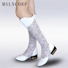 plus size 34-43 Women Summer Boots Gladiator Sandals Knee-High Boots Breathable Hollow Sandals zip Knee-High Boots Fashion Shoes недорого