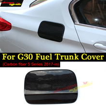 for BMW G30 Feul Tank Decorative Cover Cap Carbon Fiber New 5 Series Fuel Trunk 520d 530i 530d 540i 525i 2017+