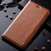 用ノキア6ケース本革スタンドフリップ磁気携帯電話カバー+無料ギフ