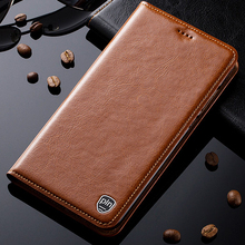For Nokia 6 Case Genuine Leather Stand Flip Magnetic Mobile Phone Cover + Free Gift
