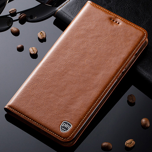 For Asus ZenFone 3 Deluxe ZS550KL Case Genuine Leather Stand Flip Magnetic Mobile Phone Cover + Free Gift