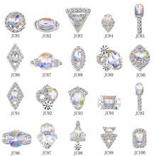 100PCs/set Diamond Crystal Shiny Nail Art Rhinestones DIY Manicure Decorations Multi-Design Charms Jewelry FRD3
