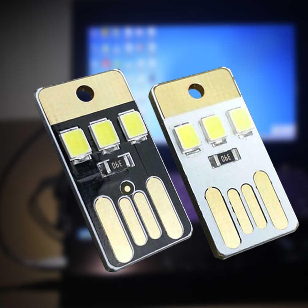 Morehappy7 veilleuse USB Ultra-mince LED, 5000mah Mini lampe de poche porte-clés gradation en continu