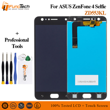 LCD For Asus Zenfone 4 Selfie ZD553KL X00LD LCD Display Panel Touch Screen Digitizer Assembly Spare Parts+Tools For ASUS ZD553KL смартфон asus zenfone 4 selfie zd553kl black 90ax00l1 m01490