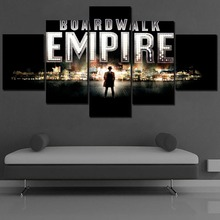Canvas Paintings For Living Room Wall Art Framework 5 Piece TV Show Boardwalk Empire Pictures Home Decor HD Prints Type Poster