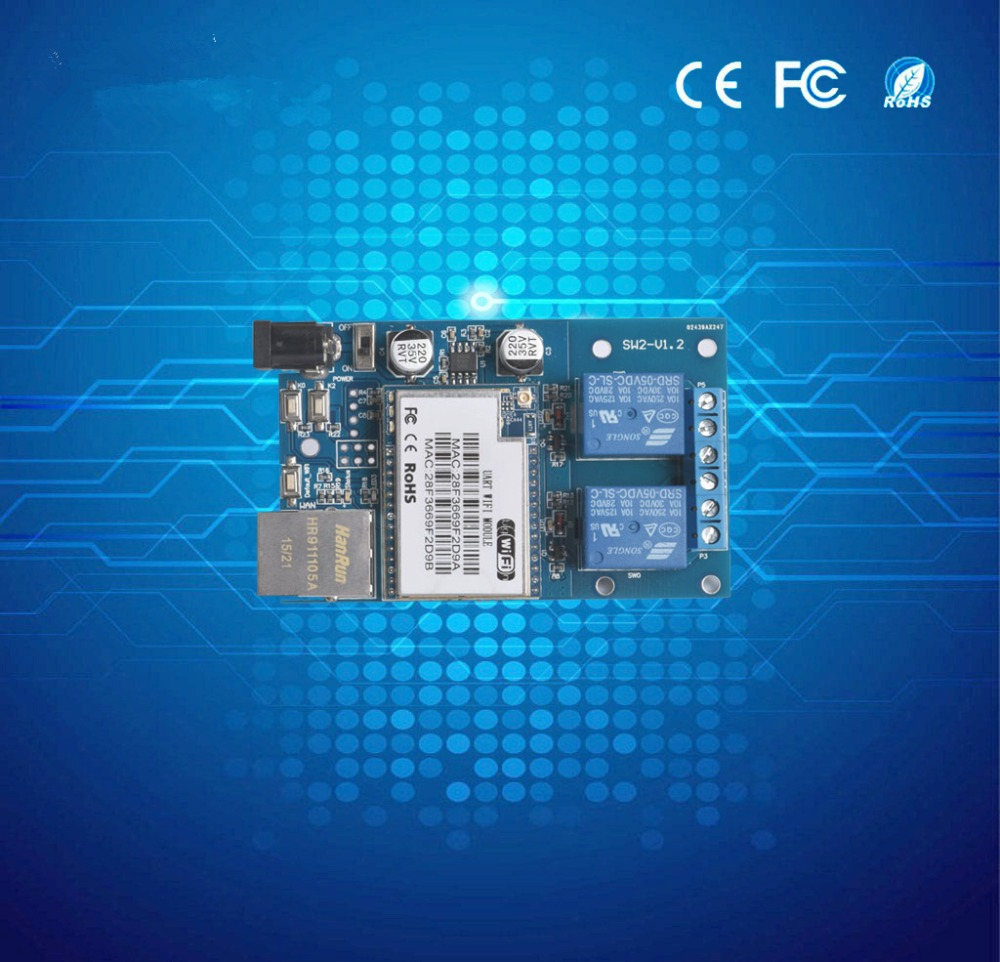 Smart Home Automation Things Of Internet 2 Channels Wifi Network Relay Module Board 2 Outputs,wifi Control Swtich