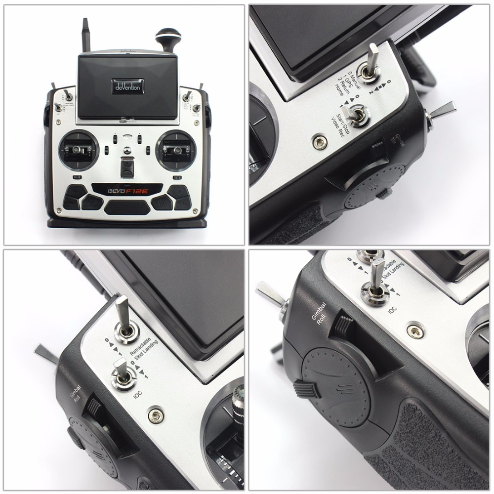 F09070 Walkera Devo F12E 5.8GHz 32 channel Transmitter Radio with 5″ LCD Display for H500/ X350 pro / X800 RC Drone Quadcopter