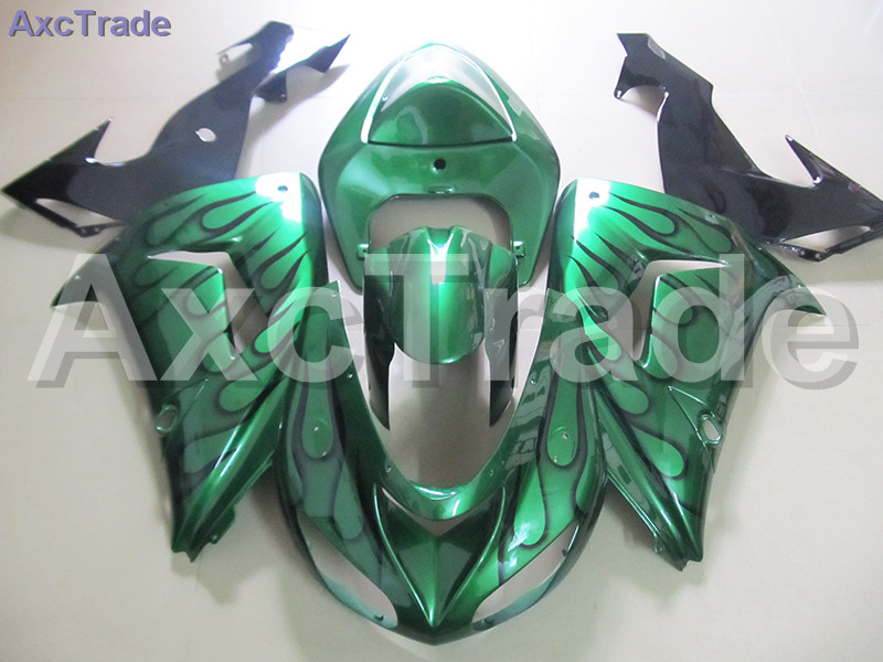 High Quality ABS Plastic For Kawasaki Ninja ZX10R ZX-10R 2006 2007 06 07 Moto Custom Made Motorcycle Fairing Kit Bodywork C491 black moto fairing kit for kawasaki ninja zx14r zx 14r zz r1400 zzr1400 2006 2007 2008 2009 2010 2011 fairings custom made c549