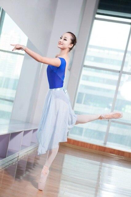 e7ad63ca82 Professor de Dança Saia Longa Adulto Chiffon Ballet Dança Saias de Tule  Collant Para A Mulher