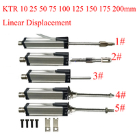 Displacement Transducer Scale KTR 10mm25 50 75 100 125 150 175 200mm Linear Displacement Sensor Automatic Reset Electronic Ruler