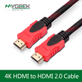 MyGeek HDMI кабель 1 М 1.5 М 3 М 4 К HDMI кабель 1.4 1080 P 3D для PS3 проектор HD LCD Apple TV Ноутбуков компьютерный кабель провода пк