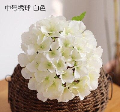 big full hydrangea heads artificial flower heads wedding decoration to make wedding flower wall centrepiece lin4407