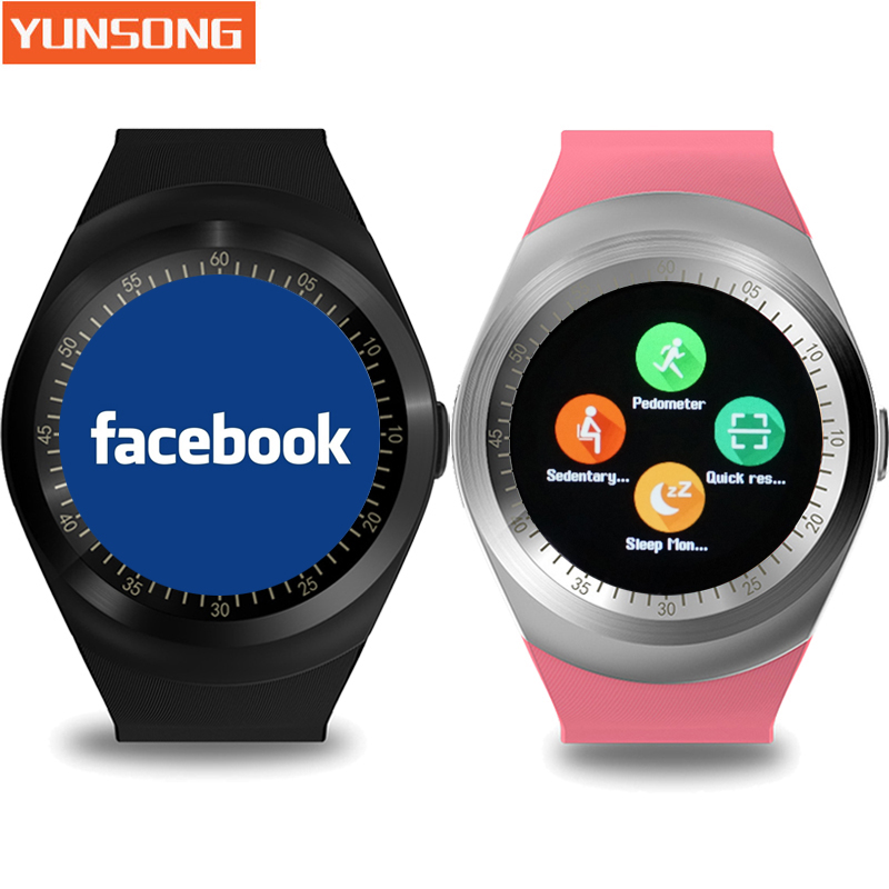 YUNSONG Y1 Bluetooth Smart watch wearable devices for Android Phone Wristwatch Intelligent Clock Sport Watch PK