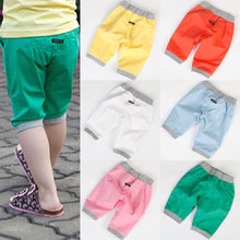 2016 Summer Male Female Child Children'S Clothing All-Match Capris Knee Length Pants Trousers