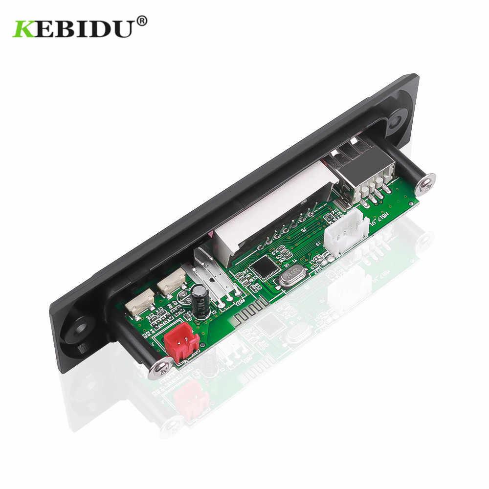 Leitor de mp3 da placa do decodificador de mp3 wma com controle remoto para o carro kebidu áudio do carro usb tf fm módulo de rádio sem fio bluetooth 5 v 12 v