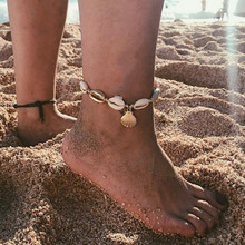2019 new fashion geometric conch shell metal wire rope anklet bohemian jewelry