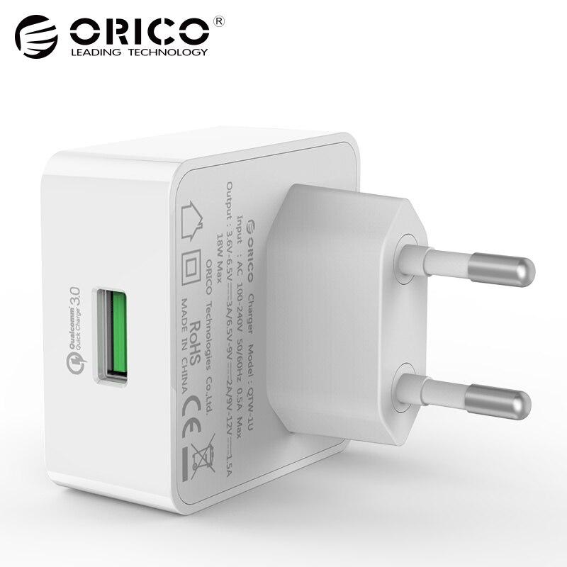 ORICO Téléphone Chargeur Charge Rapide 3.0 18 w Rapide USB Chargeur pour iPhone Samsung Xiaomi Huawei avec Livraison Micro USB câble