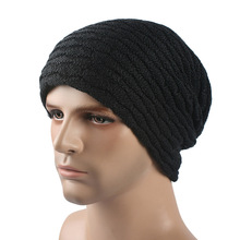 цены на Winter Beanie Knitted Hat Casual Winter Hats For Men Women Warm Bonnet Solid Caps knit Hat Women's Autumn Beanies Male Cap  в интернет-магазинах