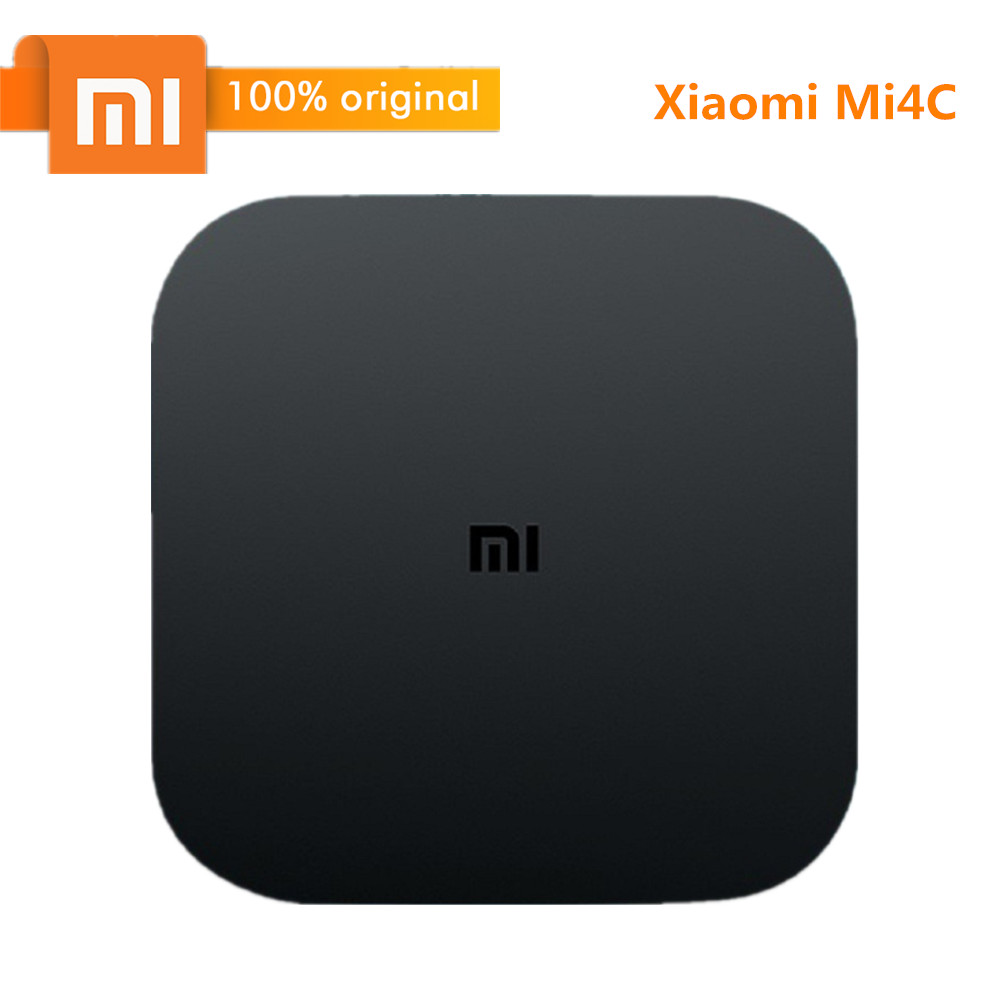 лучшая цена Original Xiaomi TV Box Mi4C Patchwall Android TV Box 4K Amlogic S905L 1GB 8GB 2.4G Wi-Fi BT4.1+ EDR H.265 / DTS-HD Smart Box