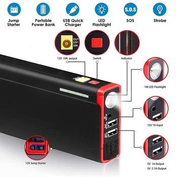 12V 21000mAh Car Jump Starter 1500A recarregável Auto Start Battery Multi-função Veículo Emergência Battery Booster Power Bank 1