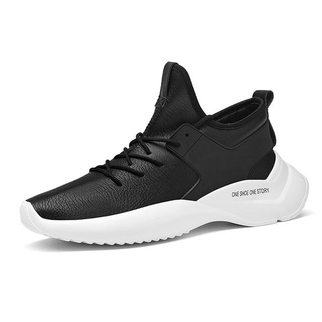 finest selection 2aa2e c7de3 Zapatillas otoño nuevo estilo ultra-fino cuero zapatos corrientes al aire  libre ligero fitness zapatos