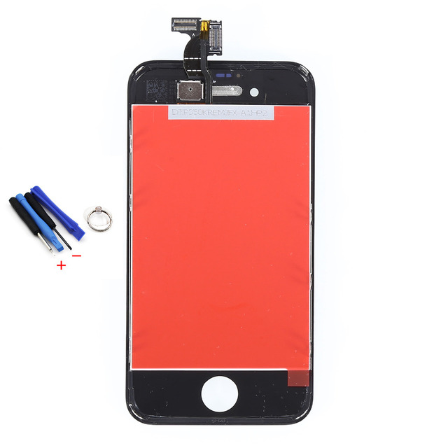 white black lcd display touch screen digitizer assembly with Dust-proof net free tools replacement parts For iPhone 4S