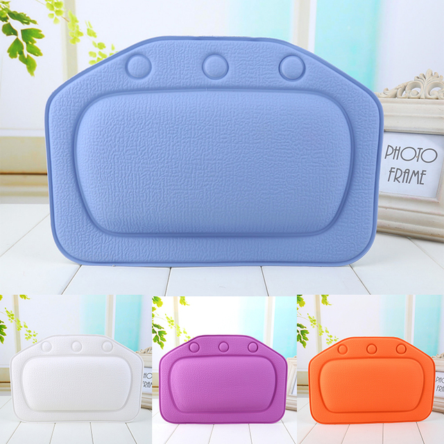 SPA Bath Pillow Eco-Friendly Bathroom Comfortable Bath Pillow  Neck Bathtub Cushion Soft Headrest Suction Cup Bathtub Pillow