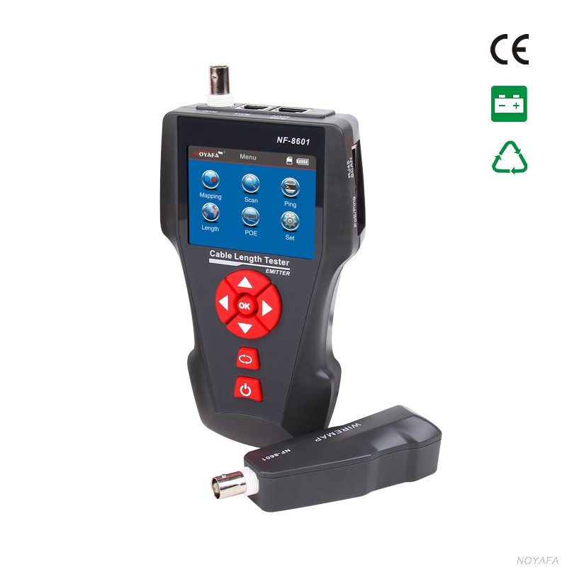 NF-8601A Multi-functional Network Cable Tester LCD Cable Length Tester Breakpoint Tester English Version NF_8601A