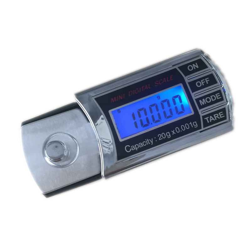 20g 0.001g LCD Digital Milligram Gram Pocket Scale Mini Electronic Diamond Jewelry Scales Precise Carat Weight Balance With Box