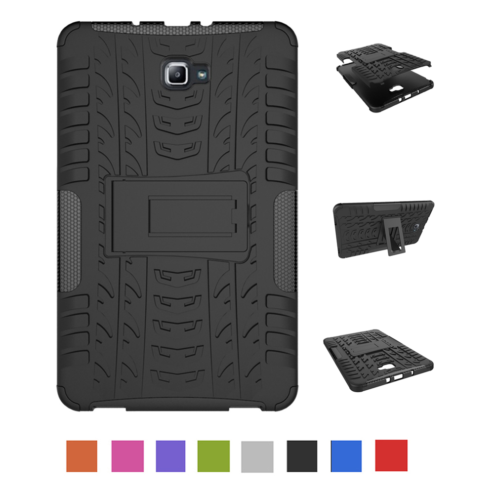 Case For Samsung Galaxy Tab A A6 10.1 Inch 2016 T580 T585 Hard PC With Silicon Tablets Books Case Cover Shell