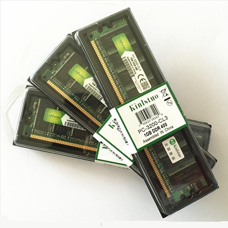 Kinlstuo DDR1 RAM DDR 1 gb pc3200 ddr400 400 MHz 184Pin mémoire de bureau ddr CL3 DIMM RAM 1G garantie à vie