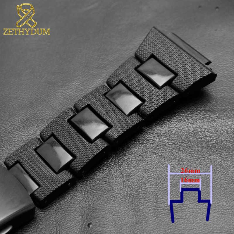 Plastikowa opaska na zegarek casio g-shock DW-6900/DW9600/DW5600/GW-M5610 pasek na zegarek i koperta ze stali nierdzewnej zderzak akcesoria ze stali nierdzewnej