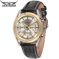 JARAGAR האופנה Relogio Masculino 6 ידיים Mechancial שעון אוטומטי Mens שעוני יד שעונים ספינה חינם