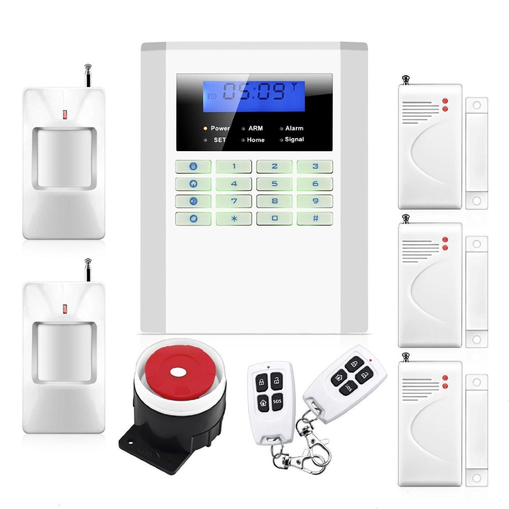 Safearmed TM SF-10B Wireless Quad-band GSM SMS Alert Security Door Gate Motion Burglar Alarm System Kit sys 10b 2 1 lcd quad band remote control wireless gsm security alarm system white us plug