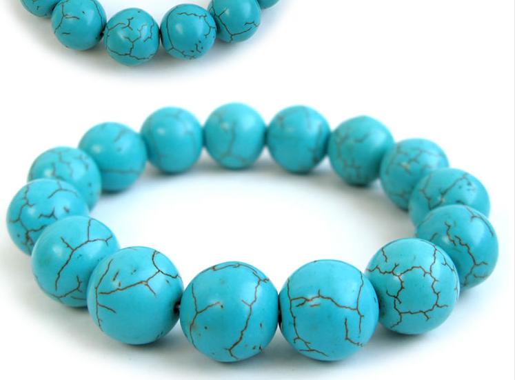 Beads Jewelry & Accessories Natural Stone White Turquoises Howlite Round Beads For Beads Jewelry Making 4 6 8 10 12mm Gem Loose Beads Diy Bracelet Wholesale Convenient To Cook