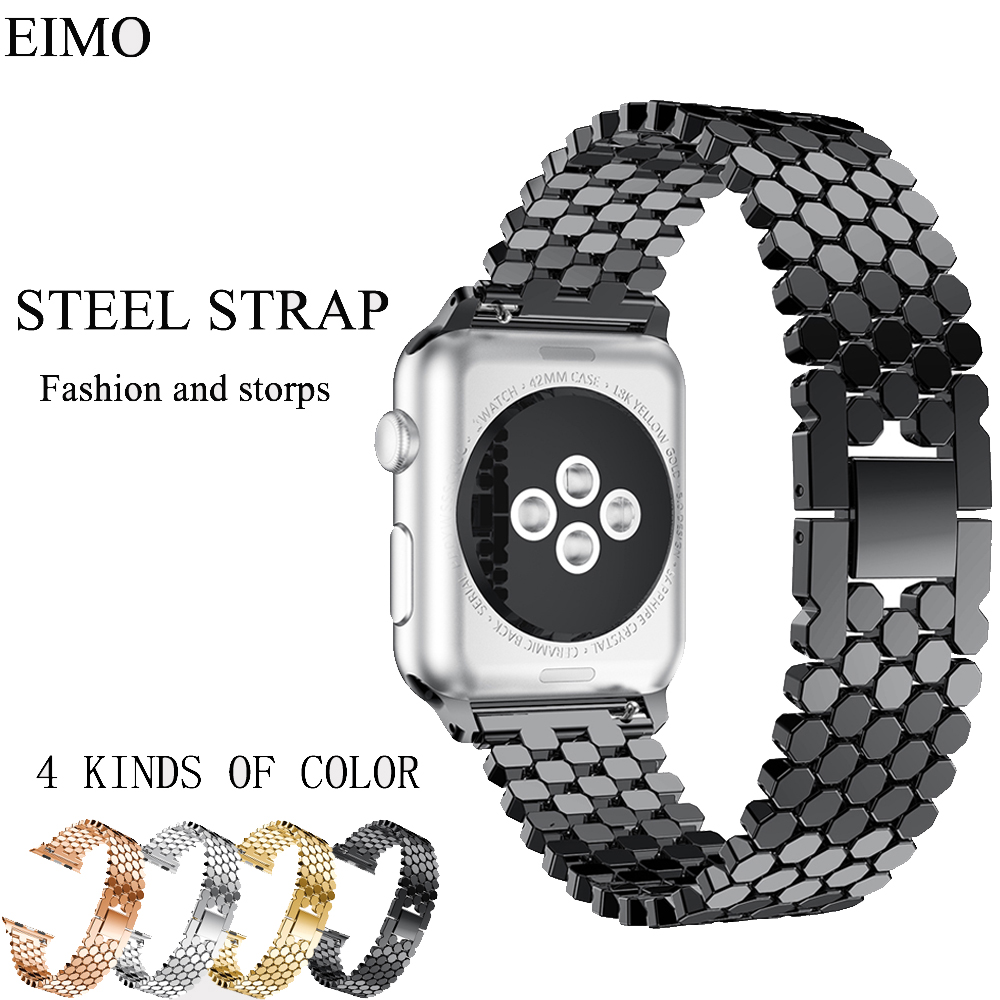 Stainless Steel Strap for Apple Watch Band 42mm 38mm Replacement Wristband Link Bracelet Belt for iwatch series 3/2/1 Watchbands цена