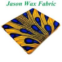 9 cores Ancara tecido Cera real Para O Vestido Africano Wax prints Tecido 2017 algodão tecido Nigeriano amarelo/azul royal dobby padrão