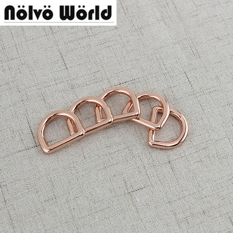 20pcs 2cm 3/4 Inch Rose Gold Welded D Ring Buckle,bags Purse Alloy Closed Metal Dee Ring,rose Gold