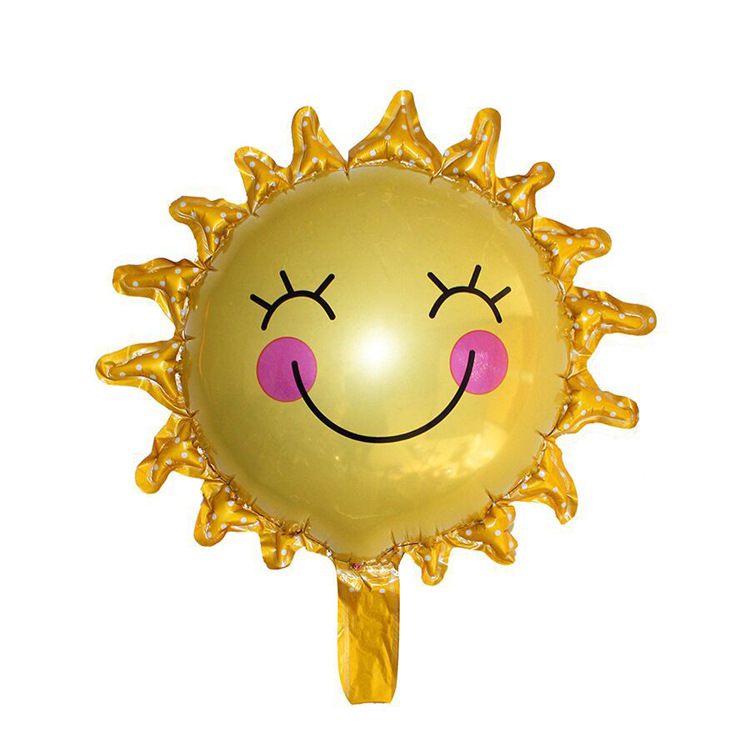VIPOINT PARTY 45x38cm yellow smile sun sunflower foil balloons wedding event christmas halloween festival birthday party HY 223 in Ballons Accessories from Home Garden