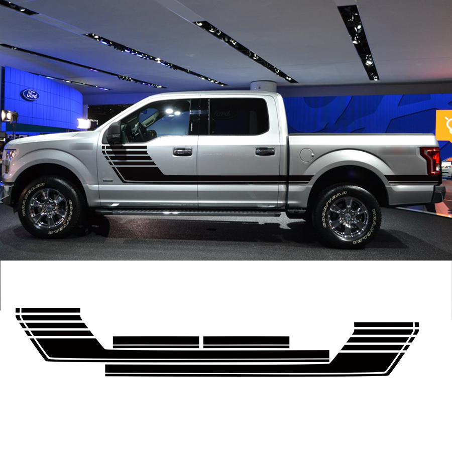 Special Edition Lead Foot Appearance Hockey Stripe Vinyl Graphics car sticker for F150 crew cab 2015
