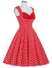 Women Summer Dress vestidos 2016 Plus size Casual Party Floral Tunic Elegant robe Rockabilly Swing 50s Vintage Polka Dot Dresses