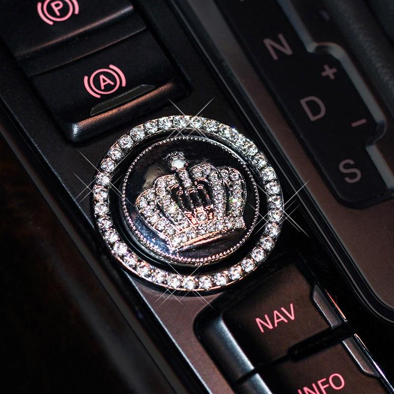 Universal Ignition Engine Start Button Cover Ring Crystal Rhinestone Sticker