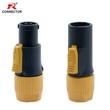 50pcs Wasserdichte PowerCON Stecker, Stecker NAC3MX W, IP65 Grade Wasserdicht Powercon True Connector