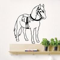 Etiquetas de la pared del Caballo del Vaquero Animal Decal Nursery Dormitorio Room Decor Vinilo