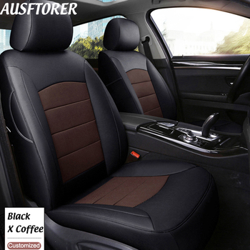 AUSFTORER Exact Fit Automobiles Seat Cover for Buick Enclave Genuine Leather Seat Covers All 7 Seats Support Cushion Accessories