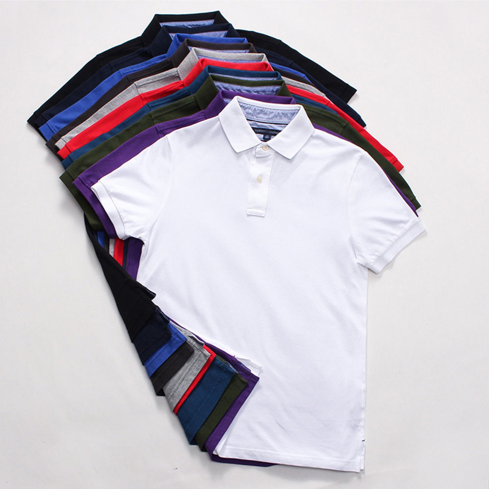 NIGRITY Brand New Men   Polo   Shirt Mens Casual Solid   Polo   shirt Men Short Sleeve   Polo   shirt Men Plus Size s-6XL