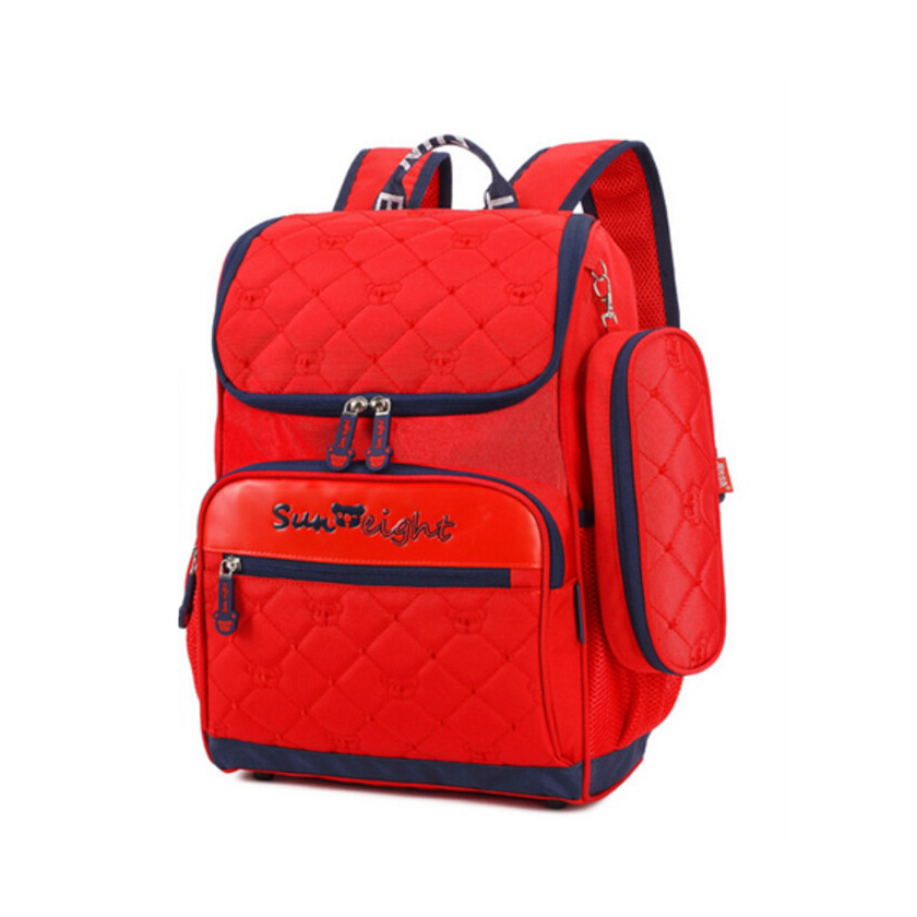 цены school bags for girls pencil case elementary school backpack children stylish backpacks preppy style book bag red/blue schoolbag