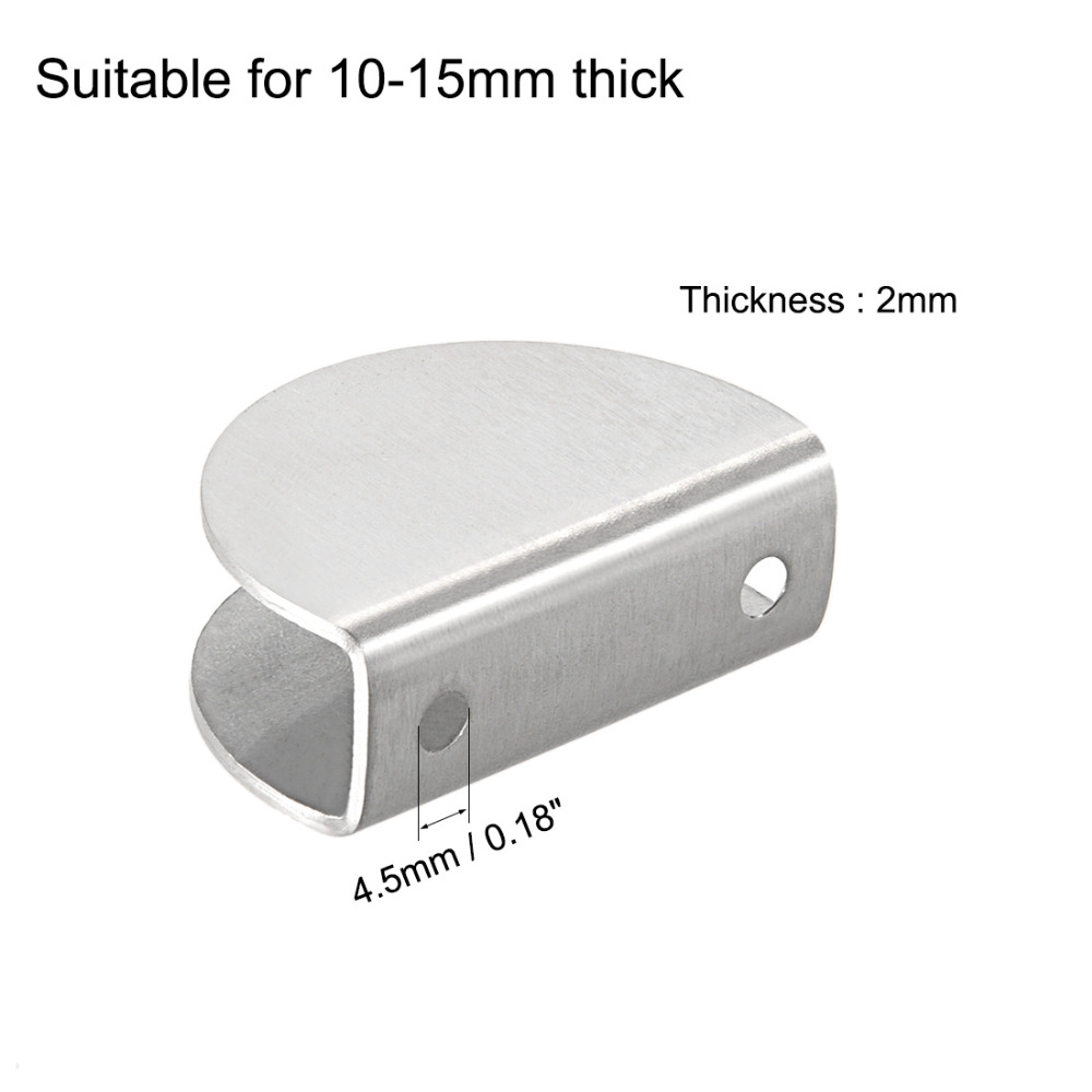 uxcell Adjustable Screw Rectangle Clip Holder for 8-10mm Thick Glass