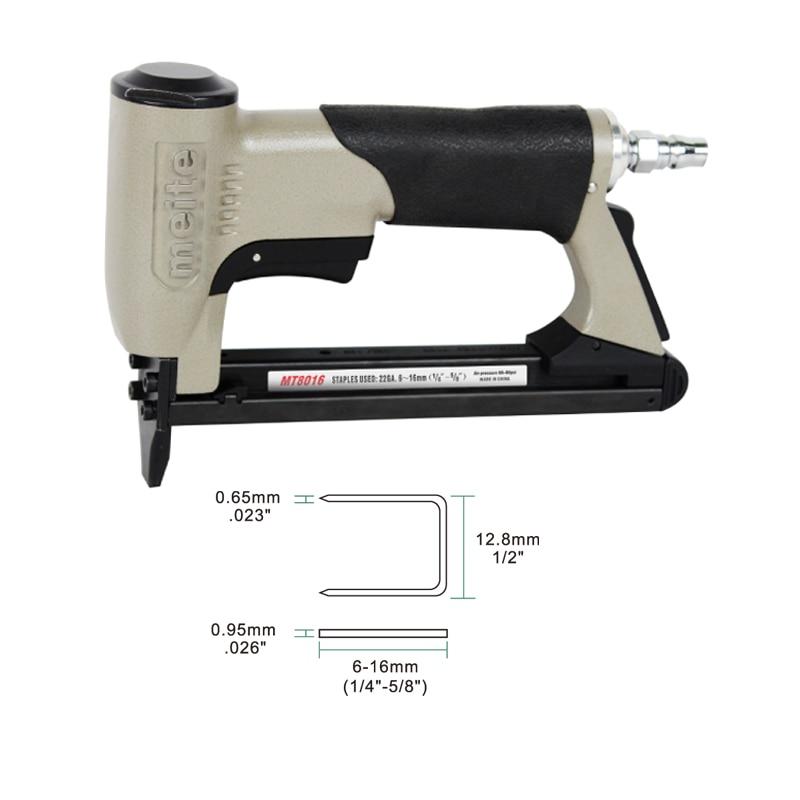 Meite MT8016 21GA crown 12.8mm fine wire stapler 80 staples length 6 ...