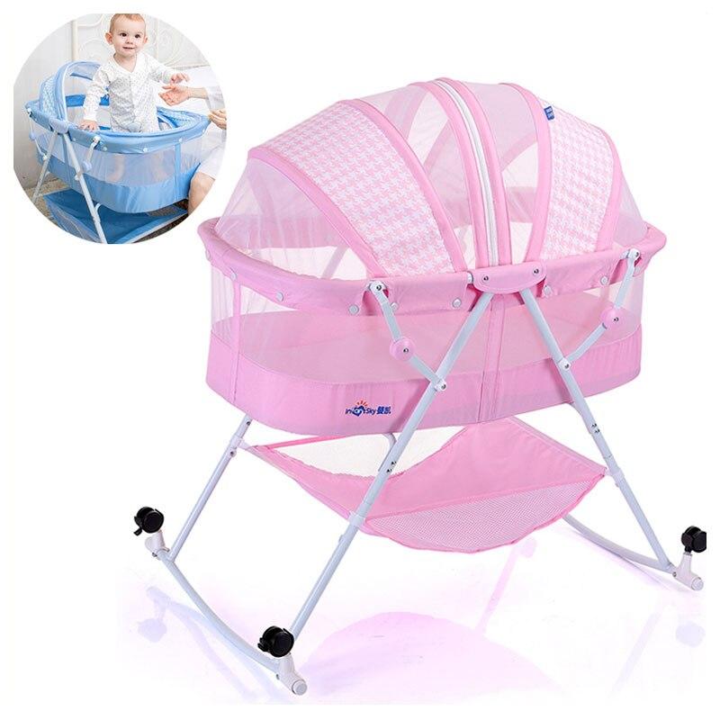 Nouveau lit de couffin Convertible multifonction lit de couffin pliant Portable nouveau-né berceau de bébé avec des meubles de pépinière de filet